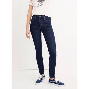 """Madewell 10"""" high-rise skinny jeans 28 dark wash"""